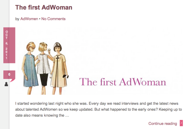 Ad Women - Martha Tolosa - First Ad Woman