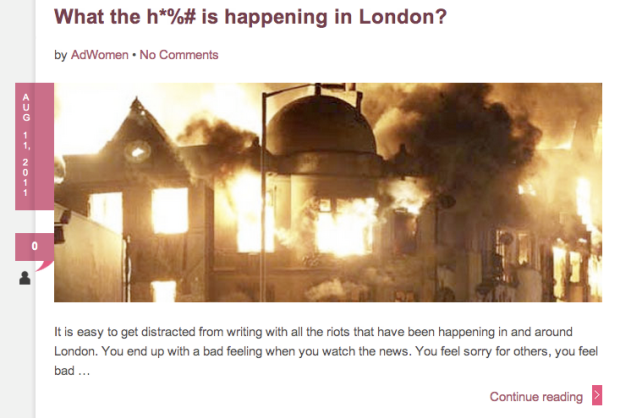 Ad Women - Martha Tolosa - Riots London